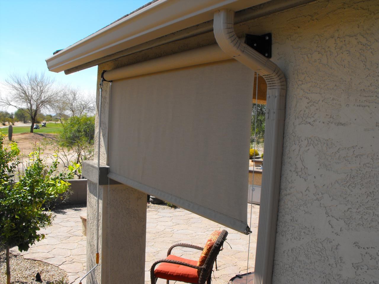 roll down blinds for patio patio roll down shade crank